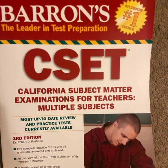 Other - CSET multiple Subject Test Prep book - Barron's